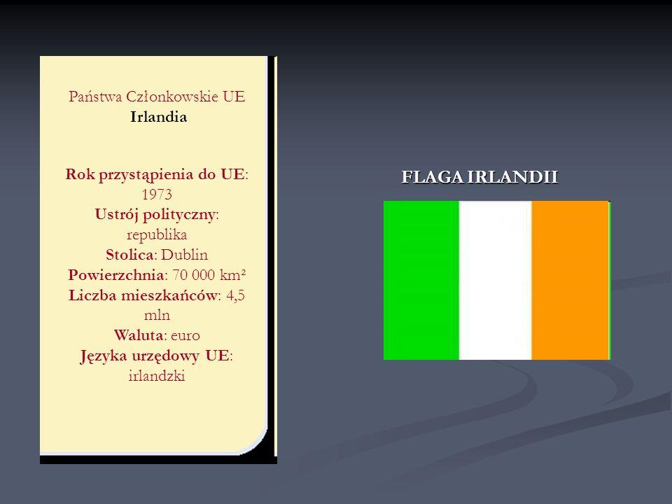 FLAGA IRLANDII Państwa Członkowskie UE Irlandia
