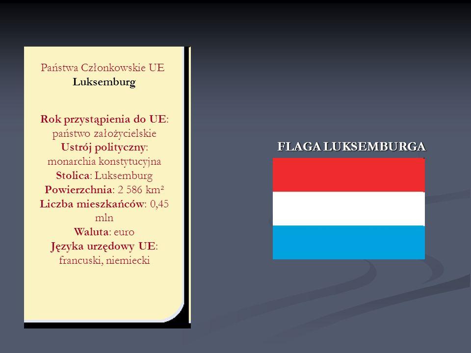 FLAGA LUKSEMBURGA Państwa Członkowskie UE Luksemburg