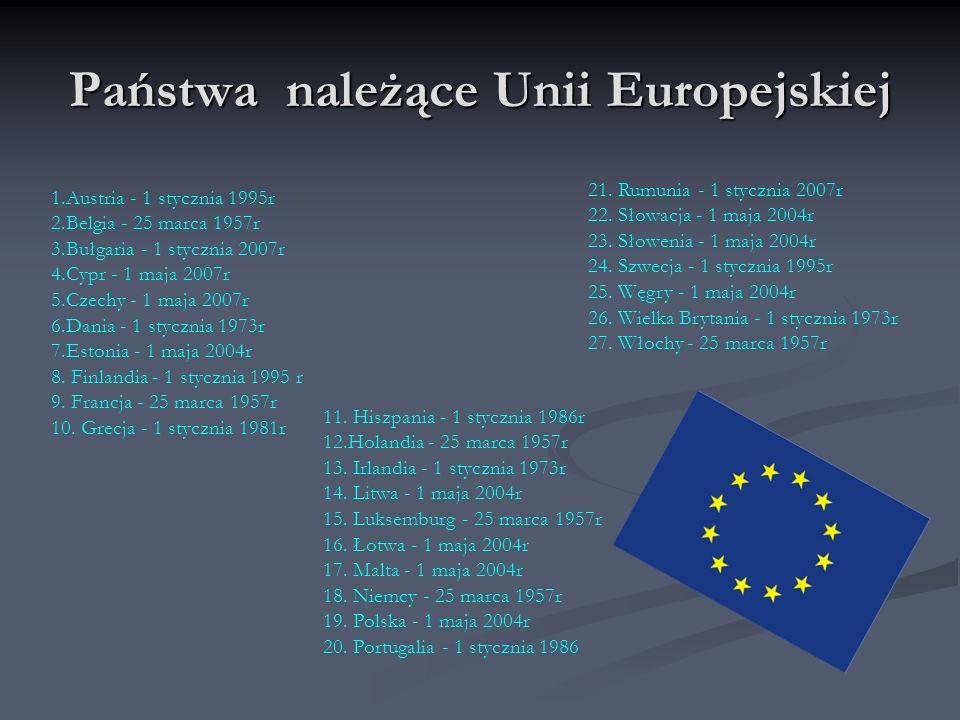 Państwa należące Unii Europejskiej