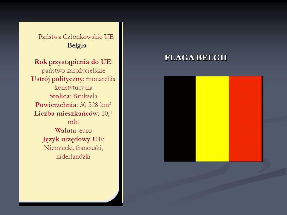 FLAGA BELGII Państwa Członkowskie UE Belgia