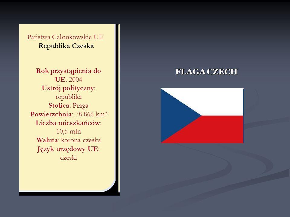 FLAGA CZECH Państwa Członkowskie UE Republika Czeska