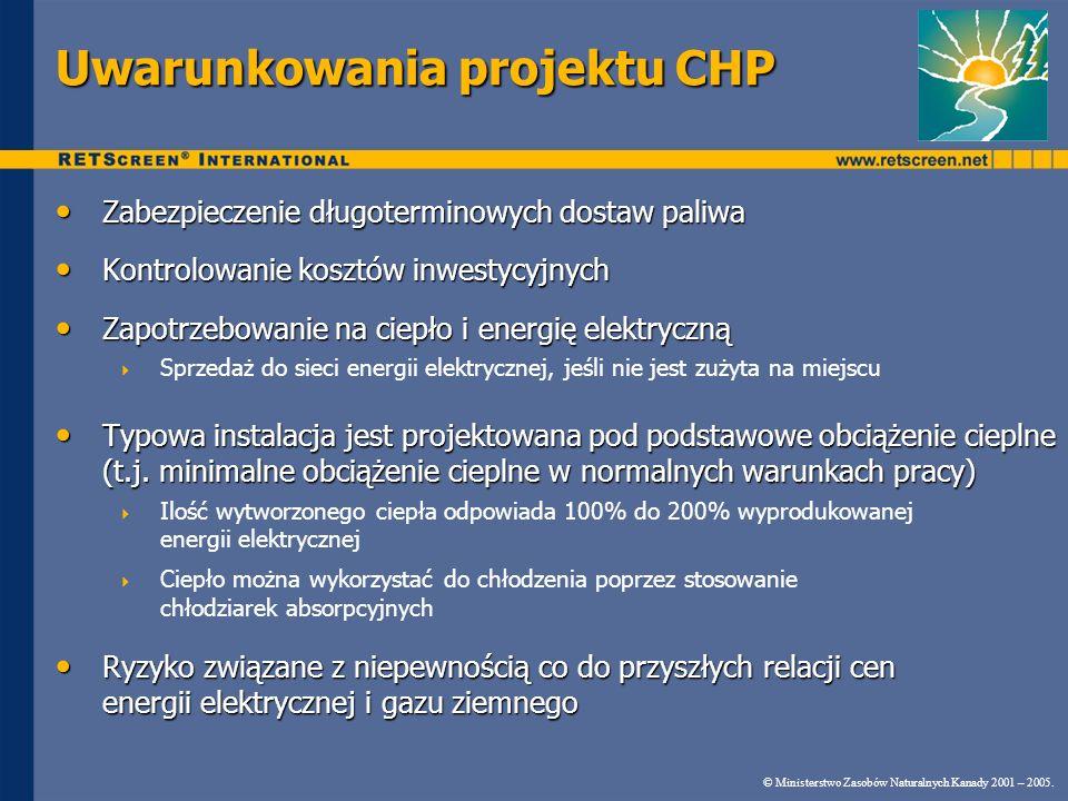 Uwarunkowania projektu CHP