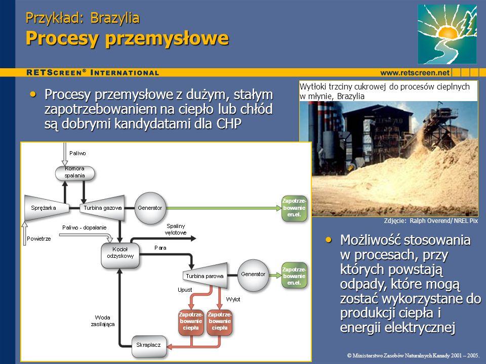 Przykład: Brazylia Procesy przemysłowe