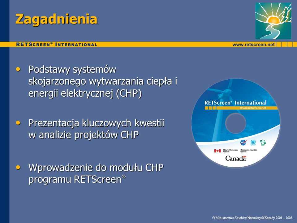 ZagadnieniaPodstawy systemów skojarzonego wytwarzania ciepła i energii elektrycznej (CHP)