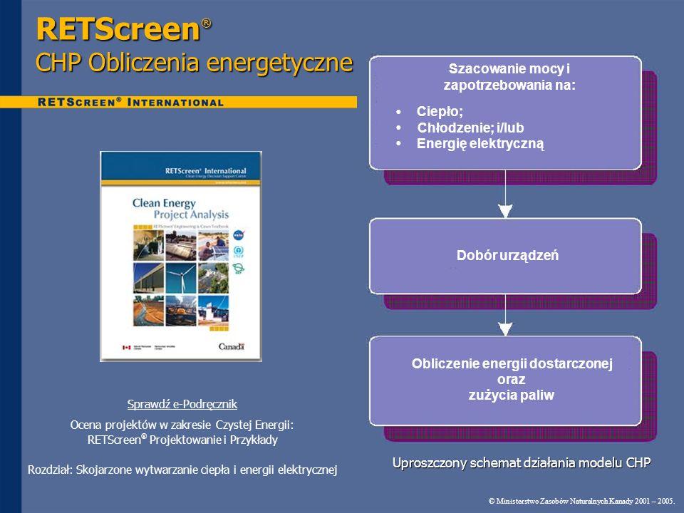 RETScreen® CHP Obliczenia energetyczne