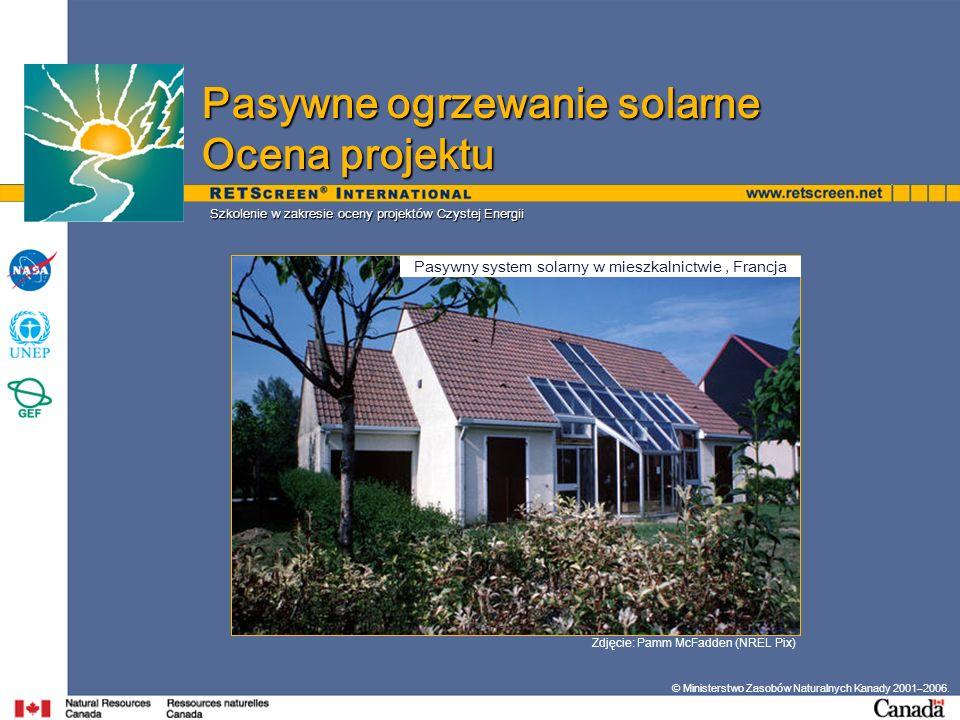Pasywny system solarny w mieszkalnictwie , Francja