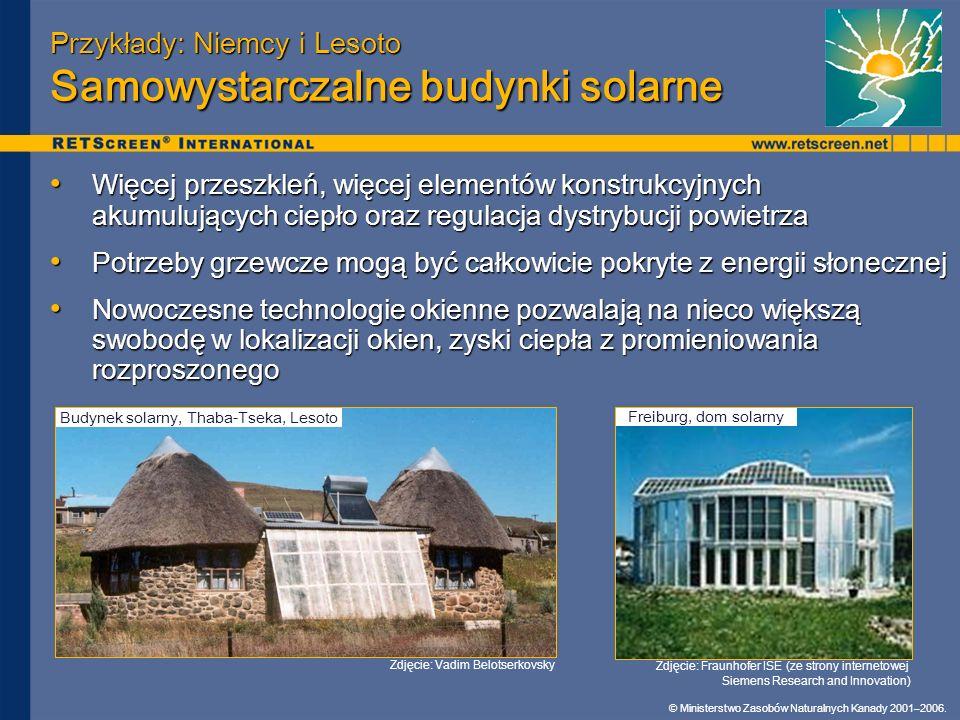 Przykłady: Niemcy i Lesoto Samowystarczalne budynki solarne