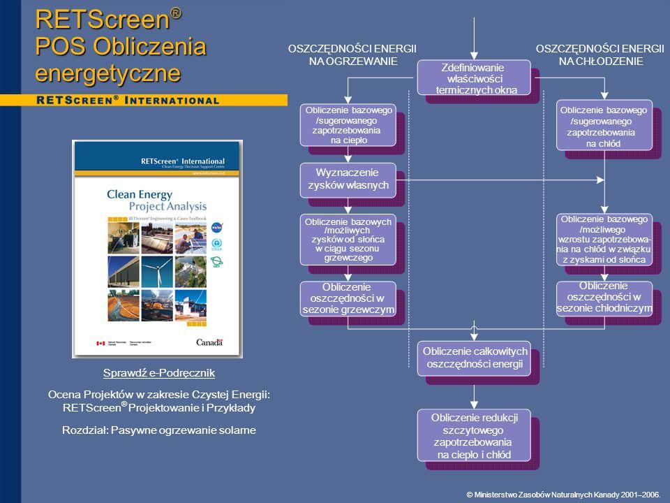 RETScreen® POS Obliczenia energetyczne