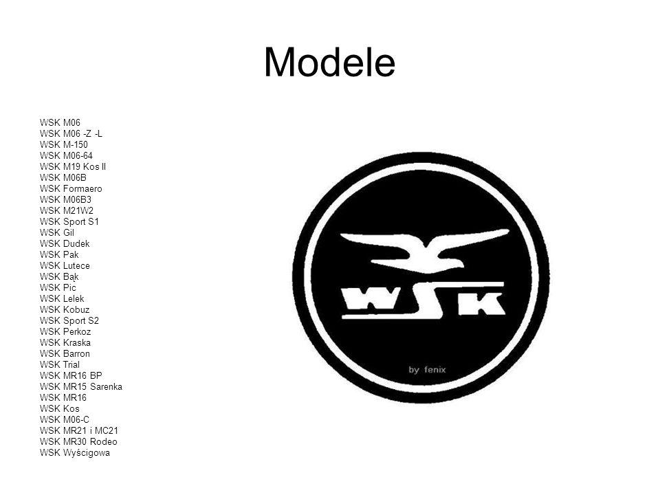 Modele WSK M06 WSK M06 -Z -L WSK M-150 WSK M06-64 WSK M19 Kos II