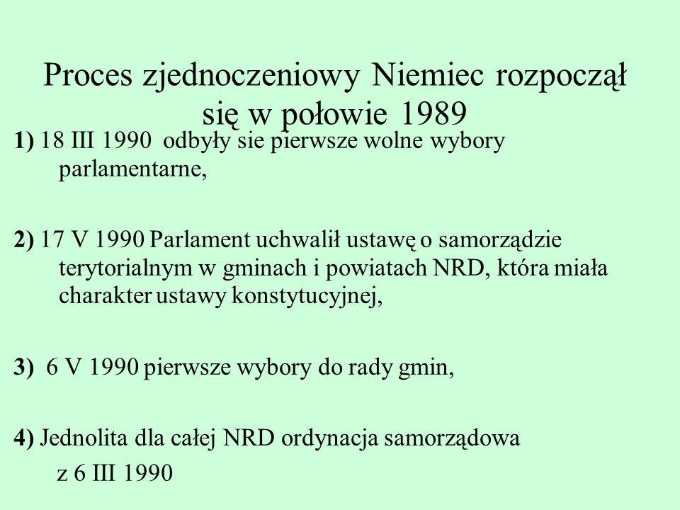 Proces zjednoczeniowy Niemiec rozpoczął się w połowie 1989