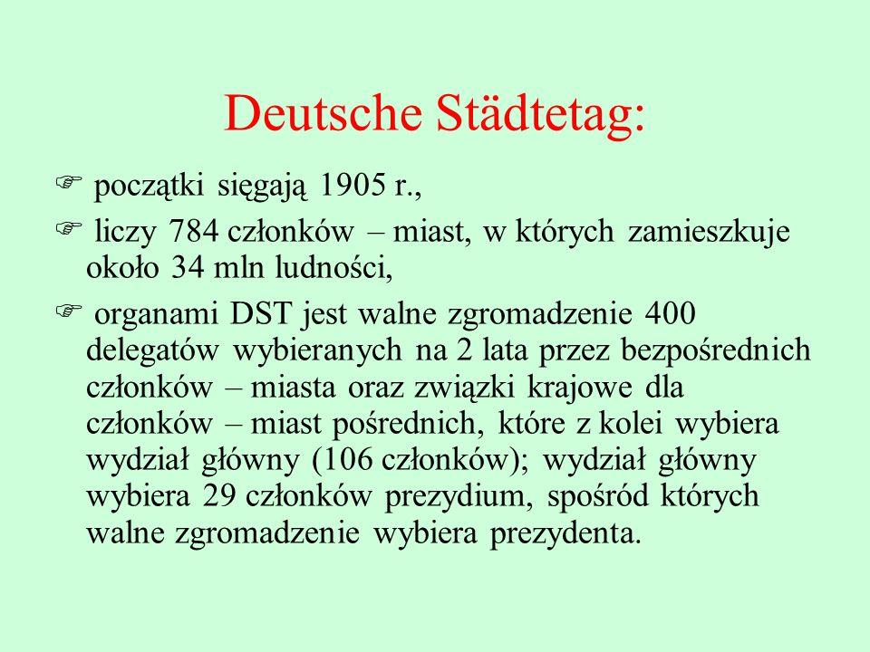 Deutsche Städtetag: początki sięgają 1905 r.,