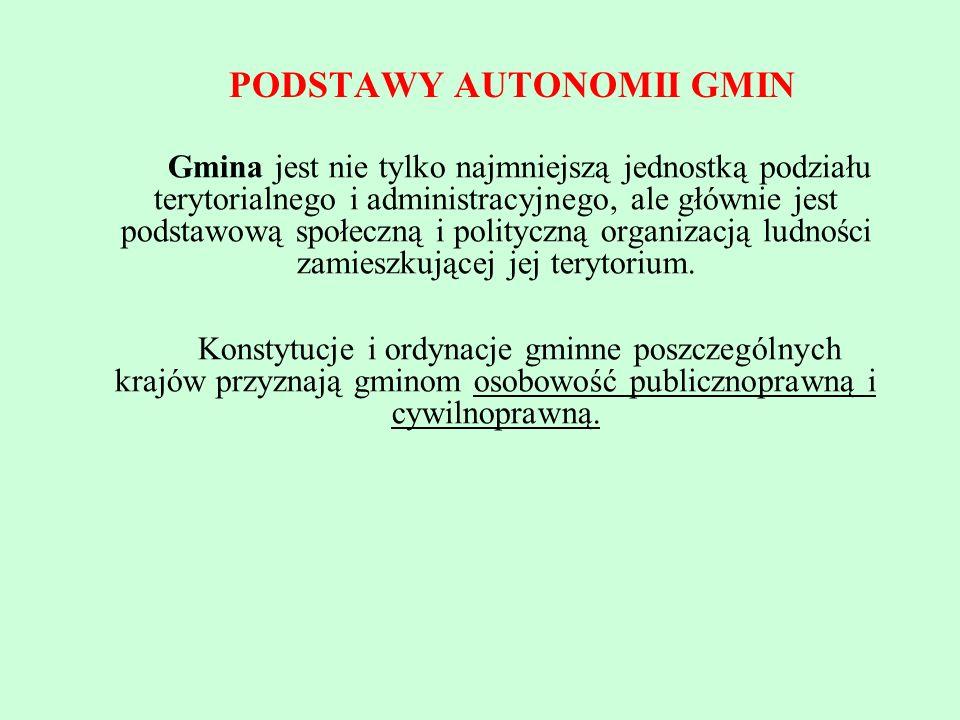 PODSTAWY AUTONOMII GMIN