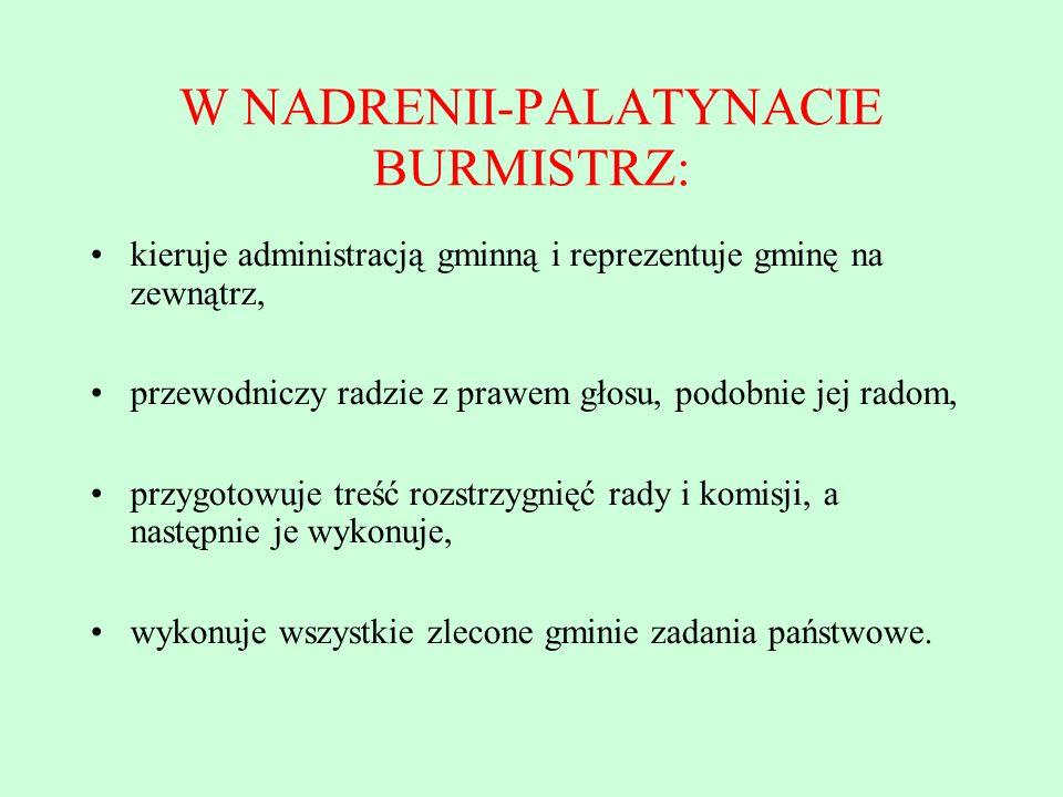 W NADRENII-PALATYNACIE BURMISTRZ: