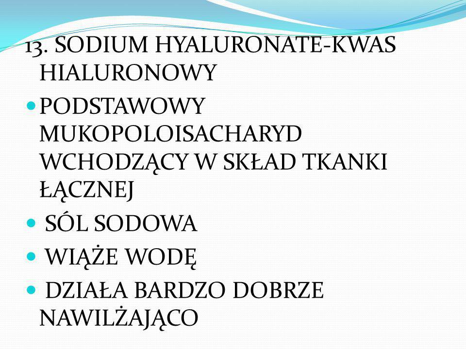 13. SODIUM HYALURONATE-KWAS HIALURONOWY