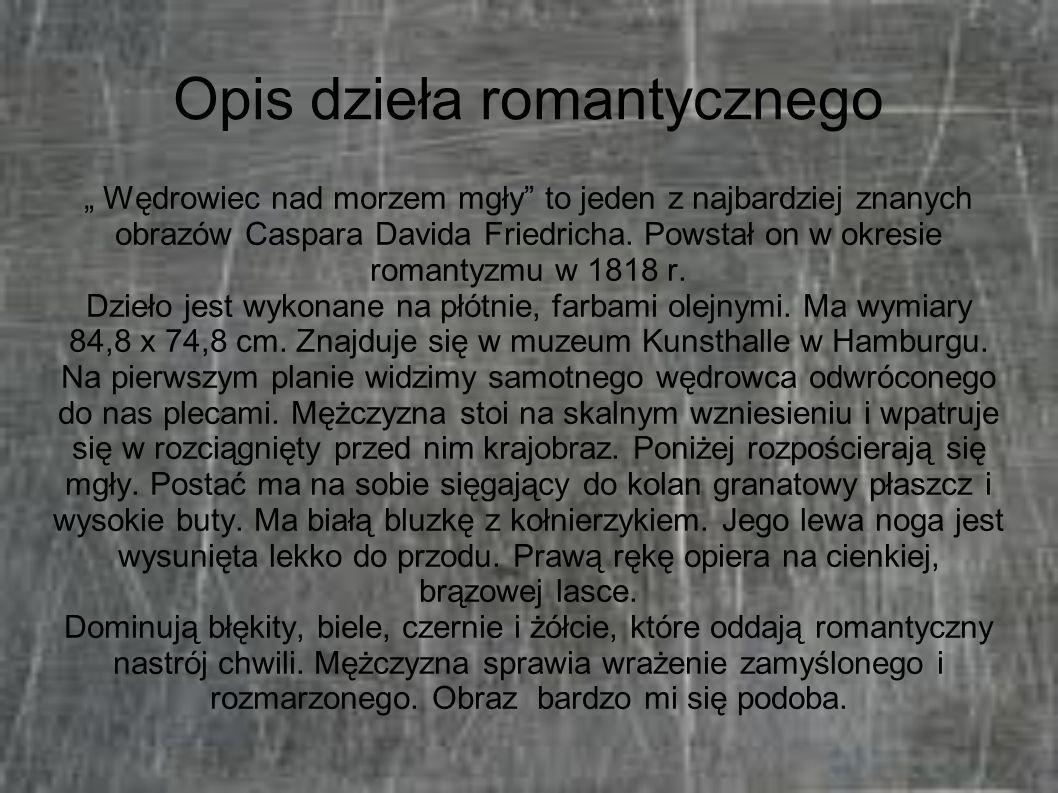 Opis dzieła romantycznego