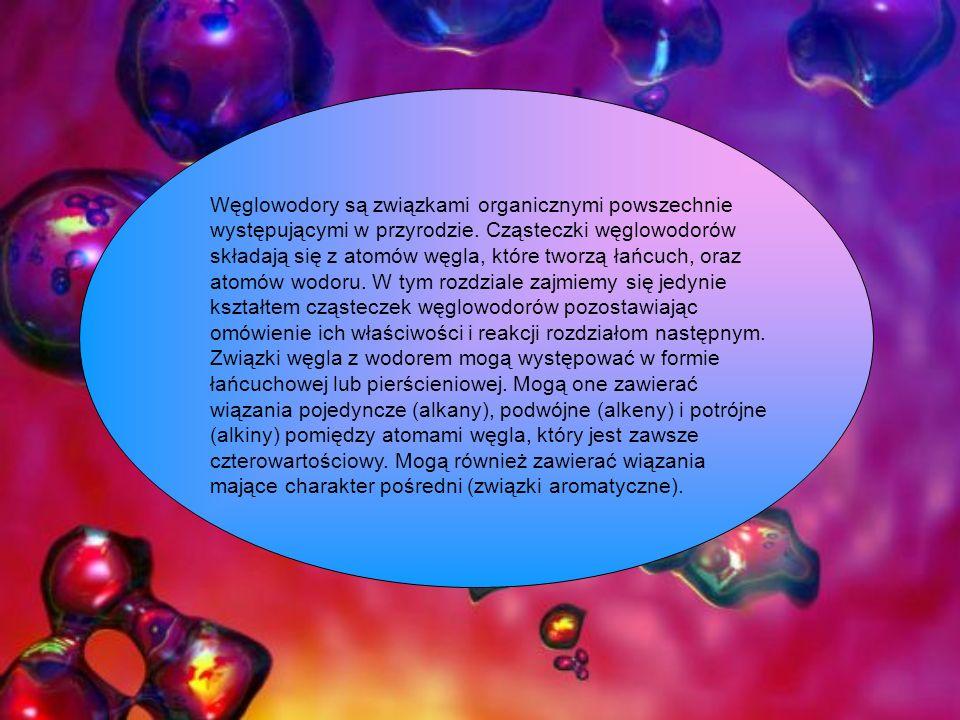 Węglowodory są związkami organicznymi powszechnie występującymi w przyrodzie.
