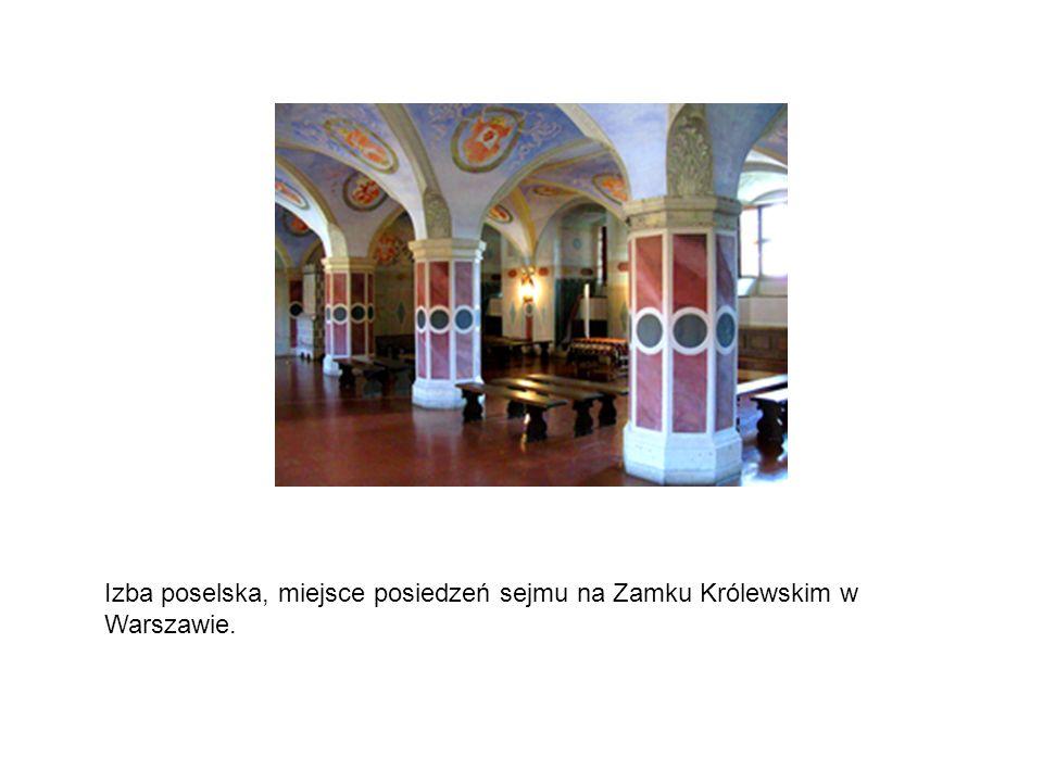 Izba poselska, miejsce posiedzeń sejmu na Zamku Królewskim w Warszawie.