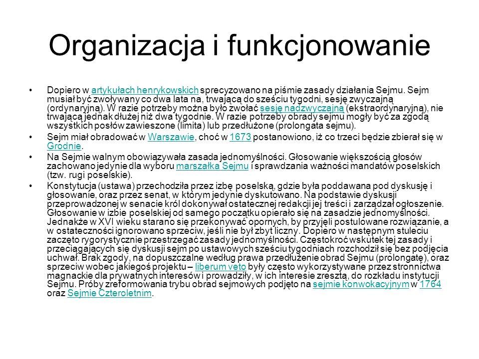 Organizacja i funkcjonowanie