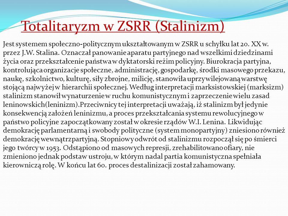 Totalitaryzm w ZSRR (Stalinizm)