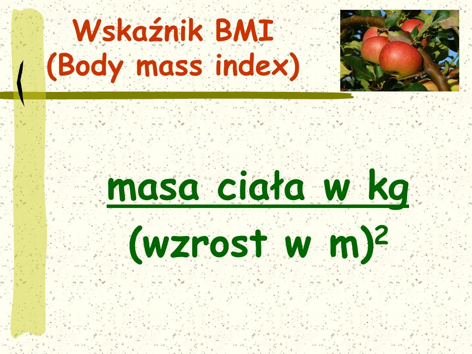 Wskaźnik BMI (Body mass index)