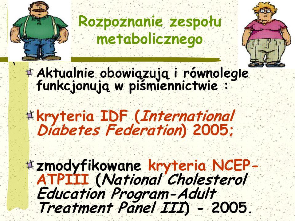 Rozpoznanie zespołu metabolicznego