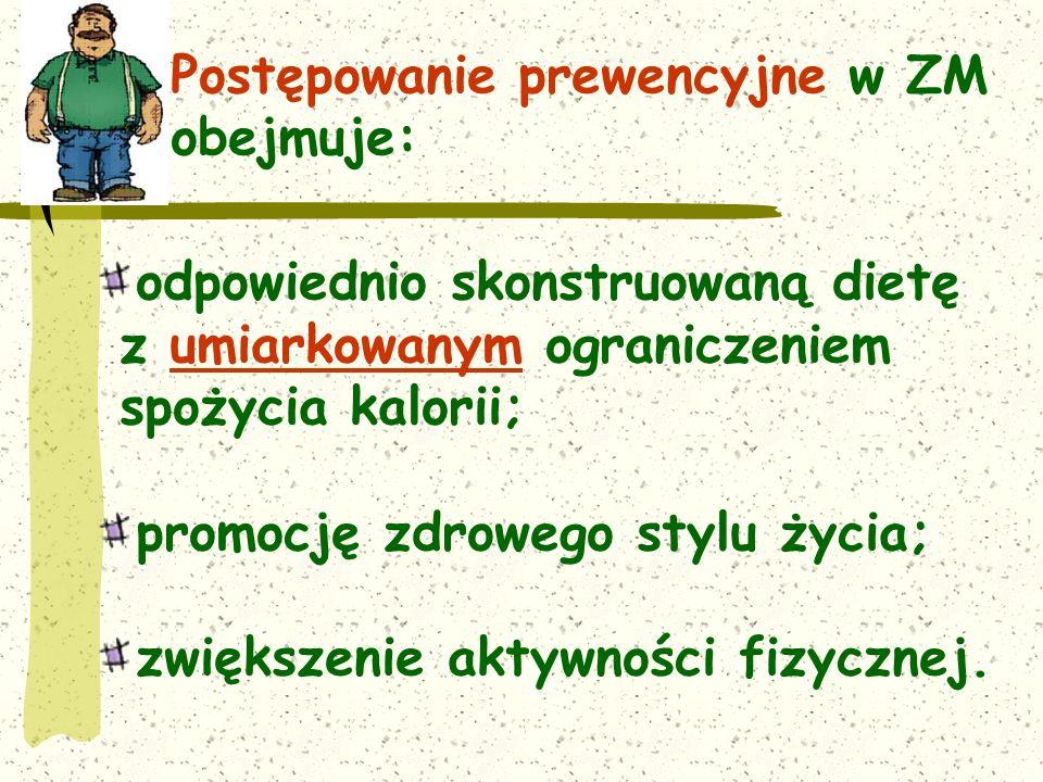 Postępowanie prewencyjne w ZM obejmuje: