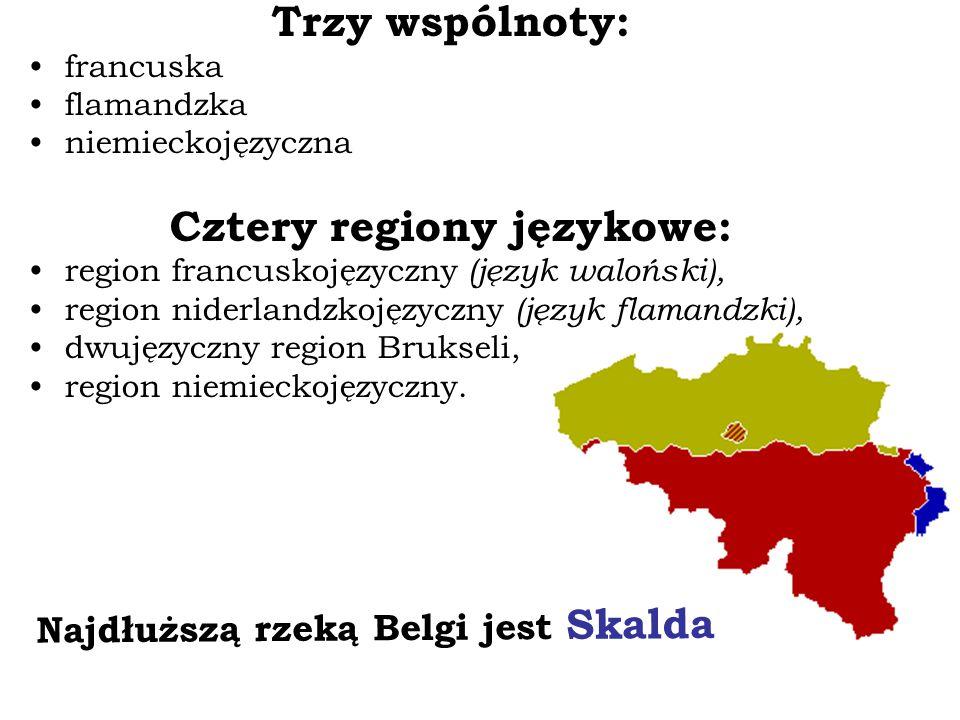Cztery regiony językowe: