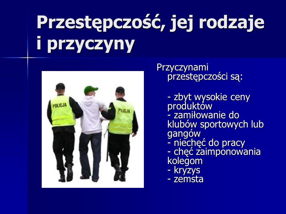 Przestępczość, jej rodzaje i przyczyny