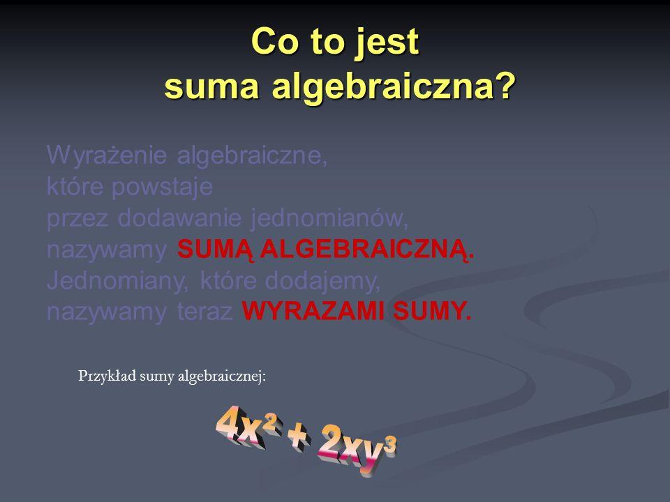 Co to jest suma algebraiczna