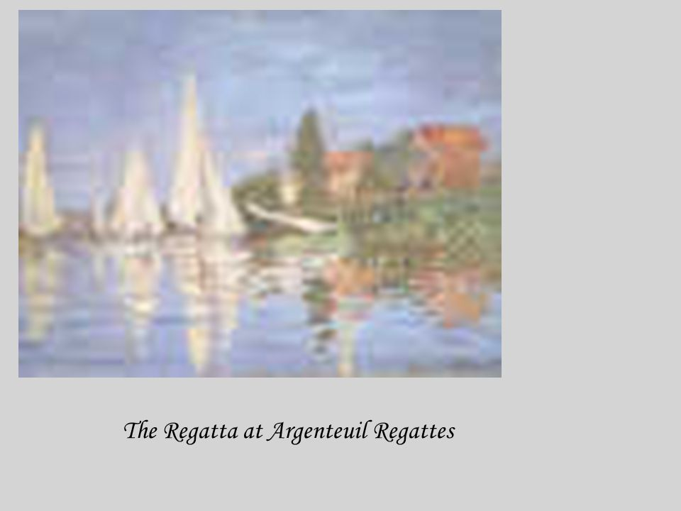 The Regatta at Argenteuil Regattes