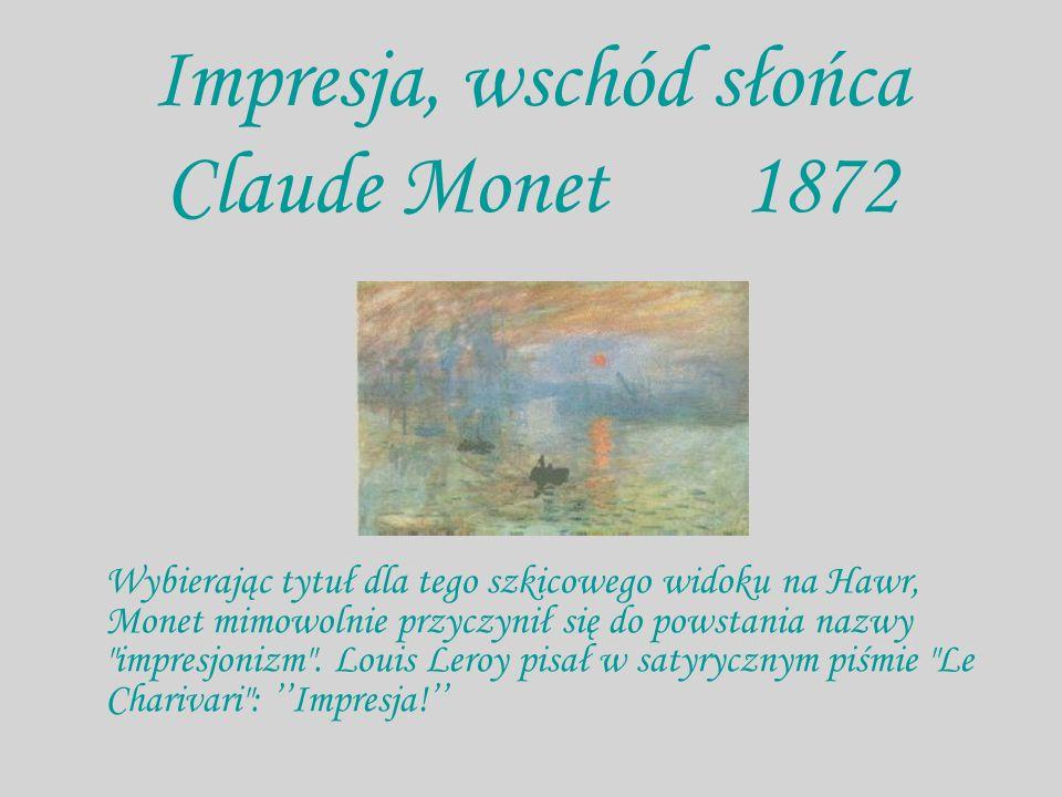Impresja, wschód słońca Claude Monet 1872