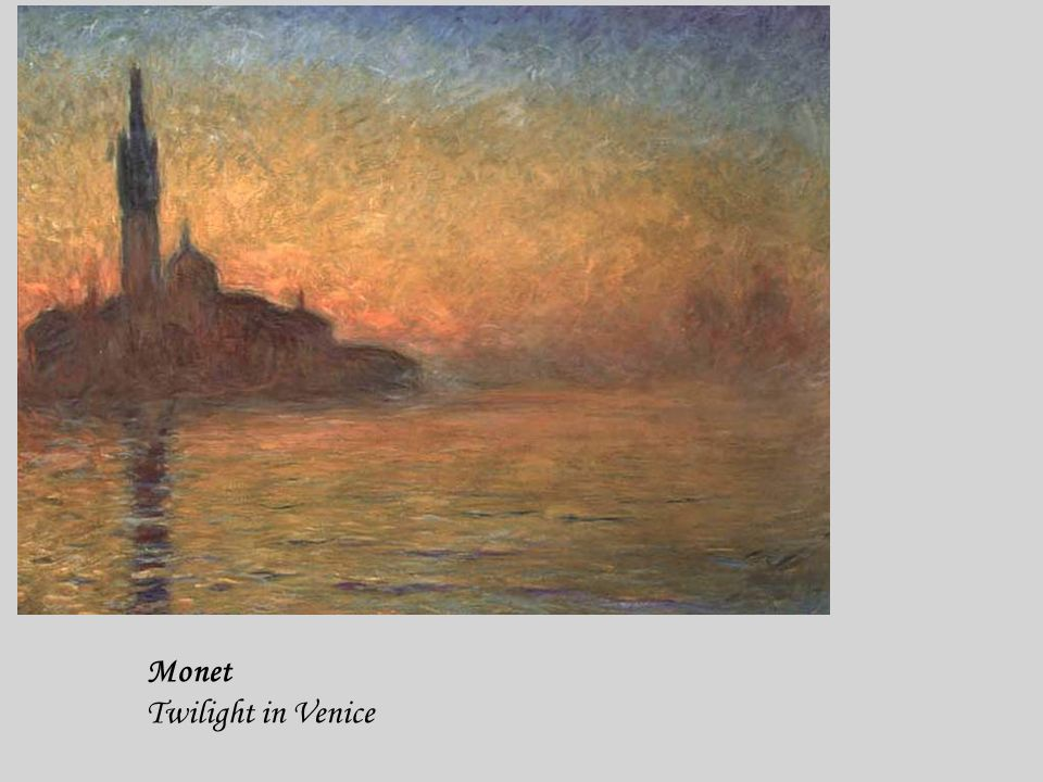 Monet Twilight in Venice