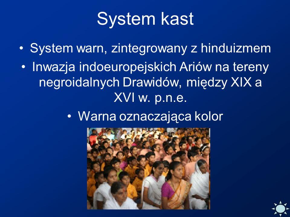 System kast System warn, zintegrowany z hinduizmem