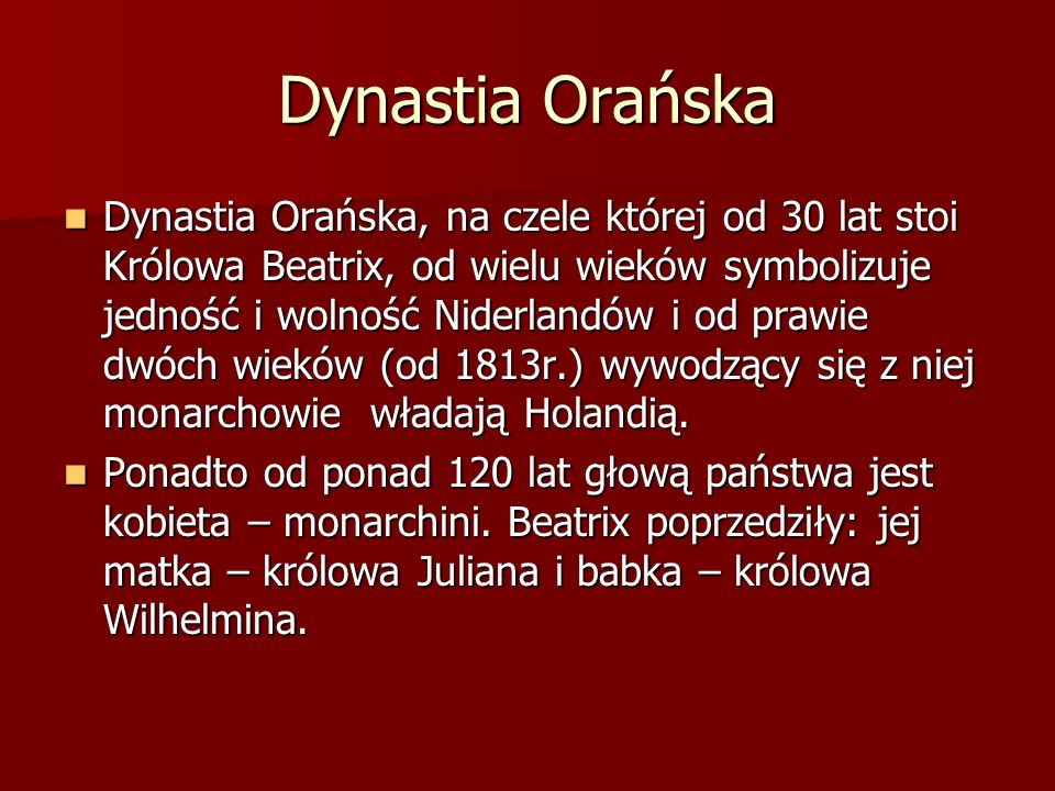Dynastia Orańska