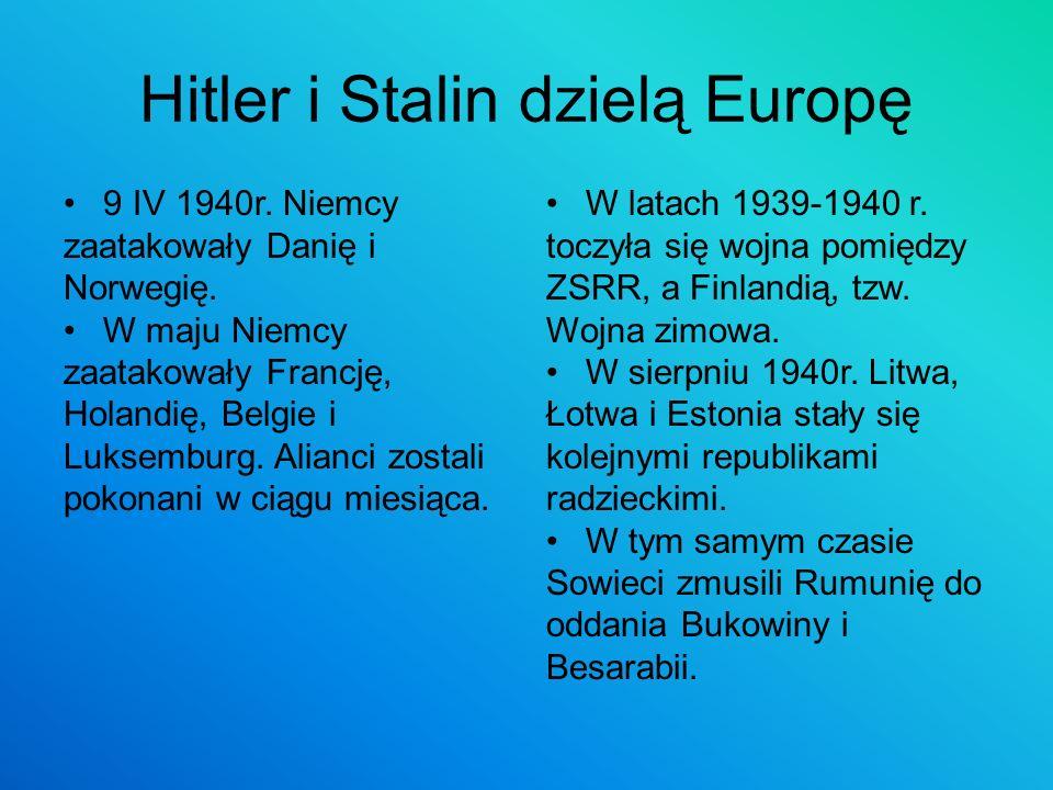 Hitler i Stalin dzielą Europę