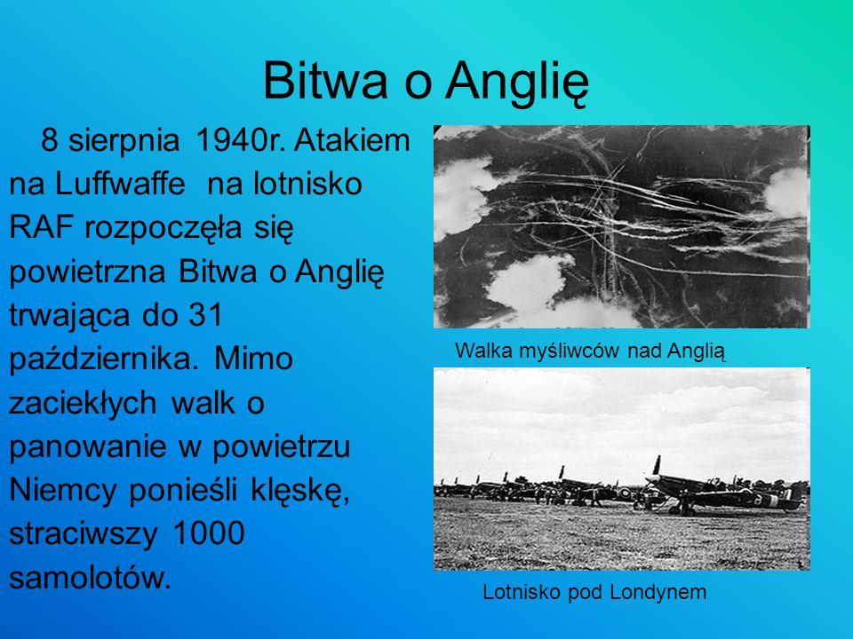 Bitwa o Anglię 8 sierpnia 1940r. Atakiem na Luffwaffe na lotnisko