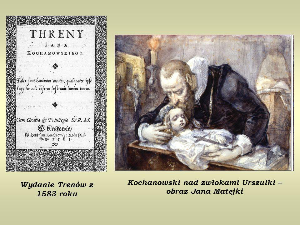 Kochanowski nad zwłokami Urszulki – obraz Jana Matejki