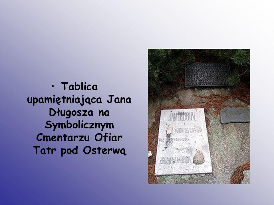 Tablica upamiętniająca Jana Długosza na Symbolicznym Cmentarzu Ofiar Tatr pod Osterwą