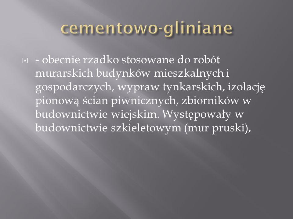 cementowo-gliniane