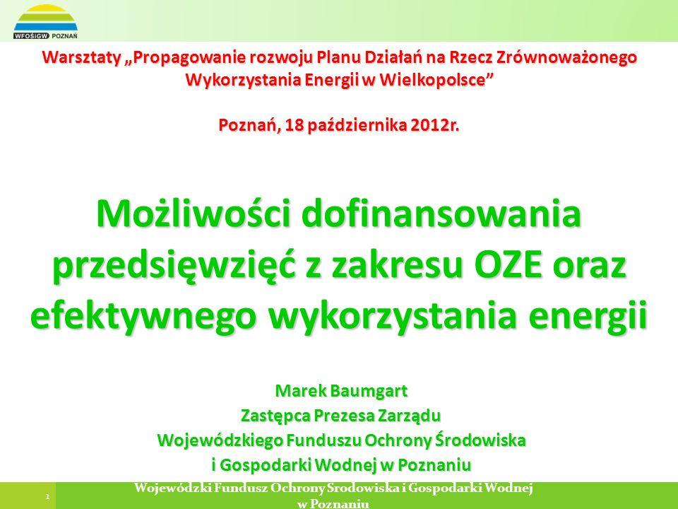 Zastępca Prezesa Zarządu Wojewódzkiego Funduszu Ochrony Środowiska