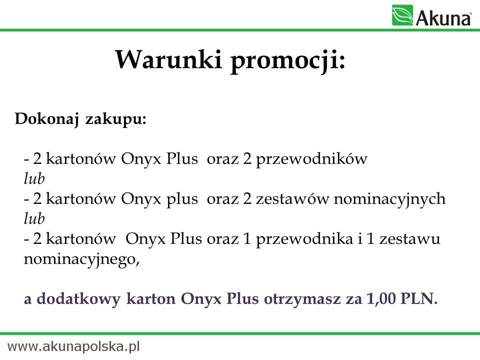 Warunki promocji: