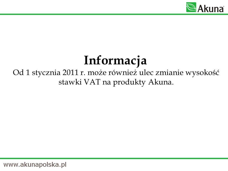 Informacja Od 1 stycznia 2011 r