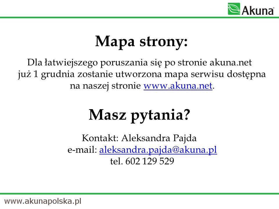 Mapa strony: Masz pytania