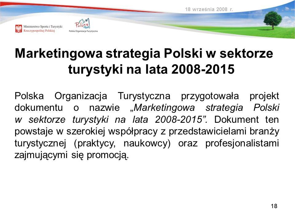 Marketingowa strategia Polski w sektorze turystyki na lata 2008-2015