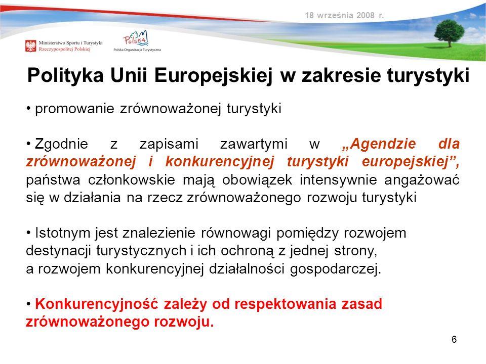 Polityka Unii Europejskiej w zakresie turystyki