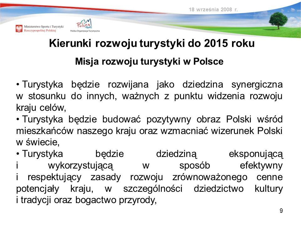 Misja rozwoju turystyki w Polsce