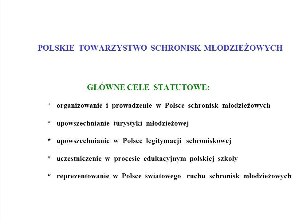 POLSKIE TOWARZYSTWO SCHRONISK MŁODZIEŻOWYCH GŁÓWNE CELE STATUTOWE: