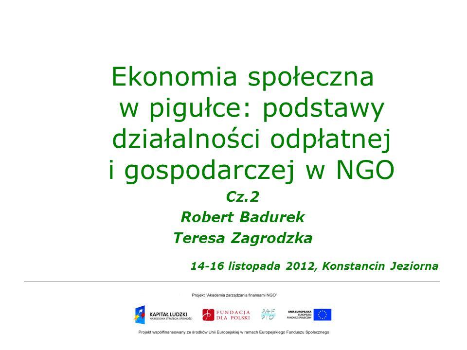 Ekonomia społeczna w pigułce: podstawy działalności odpłatnej i gospodarczej w NGO