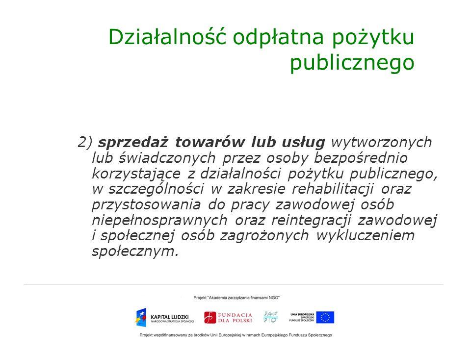 Działalność odpłatna pożytku publicznego