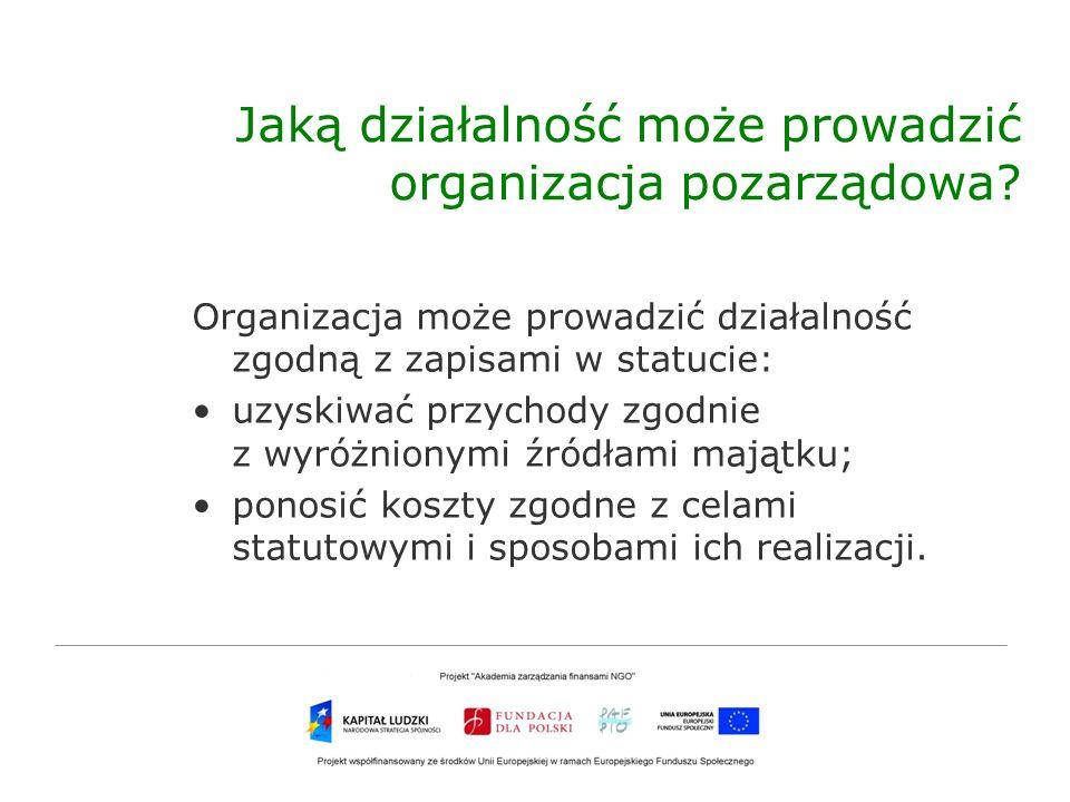 Jaką działalność może prowadzić organizacja pozarządowa
